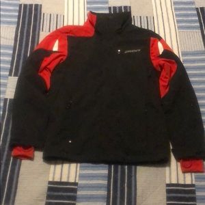 Spyder 3M thinsulate black & red small jacket!
